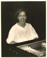 Chick Corea playing the piano in Los Angeles, November 1995 [descriptive]