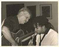Dori Caymmi with Scott Mayo performing in Los Angeles, August 1999 [descriptive]