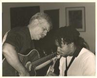 Dori Caymmi with Scott Mayo performing in Los Angeles, August 1999 [descriptive]