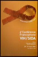 4e Conférence Francophone VIH/SIDA [inscribed]