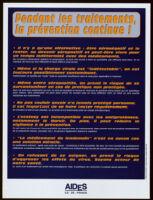Pendant les traitements, la prévention continue! [inscribed]