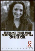 En France, trente mille seropositifs ne savent pas qu'ils le sont. [inscribed]