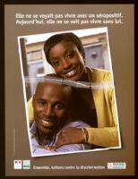 Elle no se voyait pas vivre avec un séropositif. [inscribed]