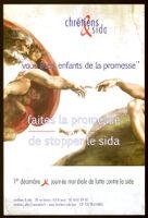 """""""Vous êtes enfants de la promesse"""": faites la promesse de stopper le SIDA [inscribed]"""