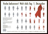 Farbe bekennen! Welt-Aids-Tag 1. Dezember [Inscribed]