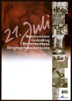 21. Juli: Bundesweiter Gedenktag für verstorbene DrogengebraucherInnen [inscribed]