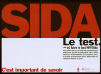 SIDA. Le test [inscribed]