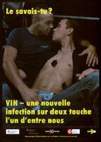 Le savais-tu? VIH- une nouvelle infection sur deux touche l'un d'entre nous [inscribed]