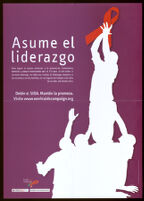 Asume el liderazgo. [inscribed]
