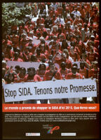 Stop Sida. Tenons notre Promesse. [inscribed]