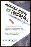 iMantente alerta!  No compartas. [inscribed]