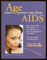 Age won't protect you from AIDS [inscribed]