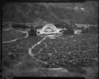 View of audience for Easter service at Hollywood Bowl, 1929.