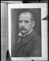 John Pierpont Morgan, book plate, circa 1885 photograph