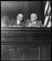 California's Secretary of State Frank C. Jordan and Judge George S. Richardson.