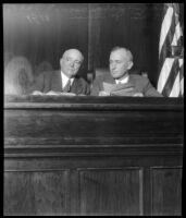 California's Secretary of State Frank C. Jordan and Judge George S. Richardson.