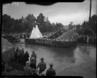 """Titanic"" float in the Tournament of Roses Parade, Pasadena, 1934"
