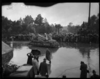North Hollywood's winged seahorse float in the Tournament of Roses Parade, Pasadena,  1934.