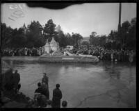 Lost City of Atlantis float in the Tournament of Roses Parade, Pasadena, 1934.