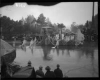 "Long Beach's ""Queen of the Beaches"" float in the Rose Parade, Pasadena, 1934"