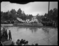 """Adohr-able Nymphs"" float in the Tournament of Roses Parade, Pasadena, 1934"