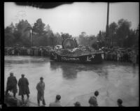 """Columbia the Gem of the Ocean"" float in the Tournament of Roses Parade, Pasadena, 1934"