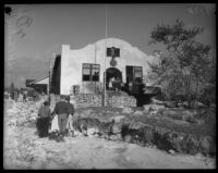 American Legion Hall damaged by flood and mudslide, La Crescenta-Montrose, 1934
