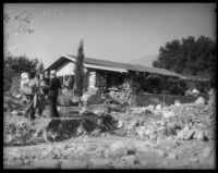 Home damaged by storms, La Crescenta area, December 31, 1933.