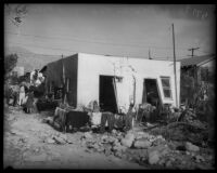 Home on Piedmont St. damaged after severe flooding, La Crescenta-Montrose, 1934