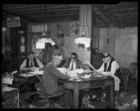 Los Angeles Daily News copy desk, January 1934.