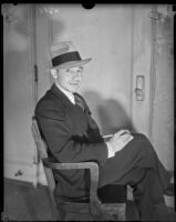 Dave Getzoff posing in chair, Los Angeles, circa 1928