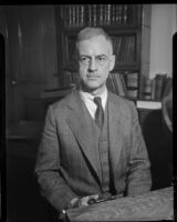 Maj. Donald H. Connolly, C.W.A. director of Los Angeles County, circa February 1934.