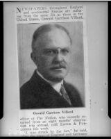 Oswald Garrison Villard, journalist, 1920s
