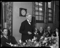W.P. Whitsett recounts the tale of the founding of Van Nuys at the city's 23rd birthday party.  February 22nd, 1934.
