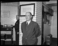 Sidney T. Graves, former L.A. County Supervisor, awaiting imprisonment in San Quentin.