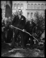 Tree planting ceremony honoring Beethoven's Ninth Symphony, April 20th, 1934.