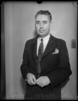 Photograph of Ray Hanners, newspaperman, 1934