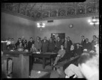 Kidnappers of William F. Gettle plead guilty to his abduction, Los Angeles, 1934.