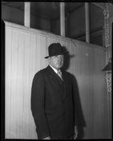 E.V. Durling, newspaper columnist, Los Angeles, 1930s