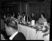 Prince and Princess Kaya of Japan seated with the Japanese Consul of Southern California, Tomokazu Hori, and his wife, Los Angeles, 1934