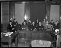Jurors at the Los Angeles Country Grand Jury trial for District Attorney Buron Fitts