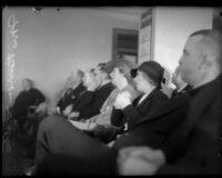 Mrs. Buron Fitts in a crowded room, Los Angeles, 1934