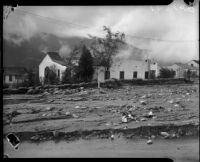 Ramsdell Avenue after flood, La Crescenta-Montrose, 1934