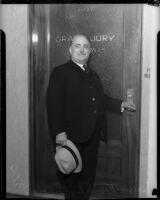 Mayor Frank L. Shaw at the Los Angeles County Grand Jury, circa 1938