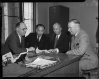 Chinese civic leaders promise peace to police administration, Los Angeles, 1935