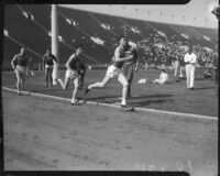USC and OSU track members race at Memorial Coliseum, Los Angeles, 1935