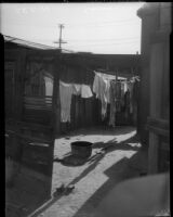 Slum sought out during a SERA housing study, Los Angeles, 1934