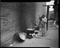 Slum sought out during SERA housing study, Los Angeles, 1934