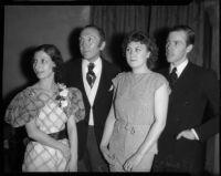 Socialites attend benefit performance of La Boheme at the Shrine Auditorium, Los Angeles, 1935