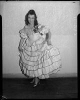 Performer posing for La Boheme at the Shrine Auditorium, Los Angeles, 1935